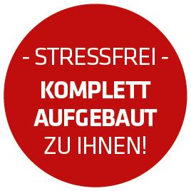 Stressfrei: Komplett aufgebaut zu Ihnen;